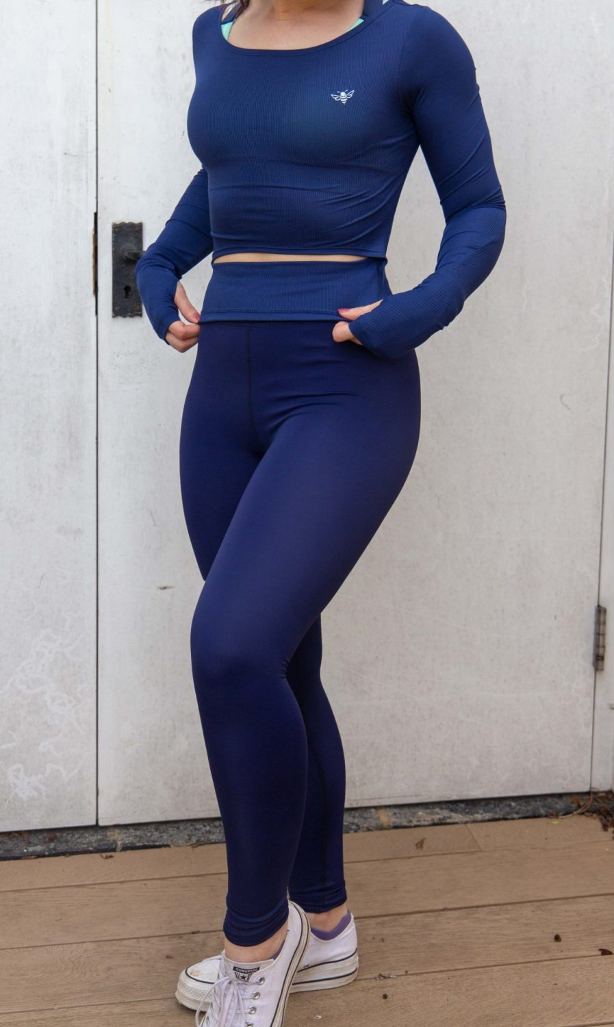 womans navy leggings