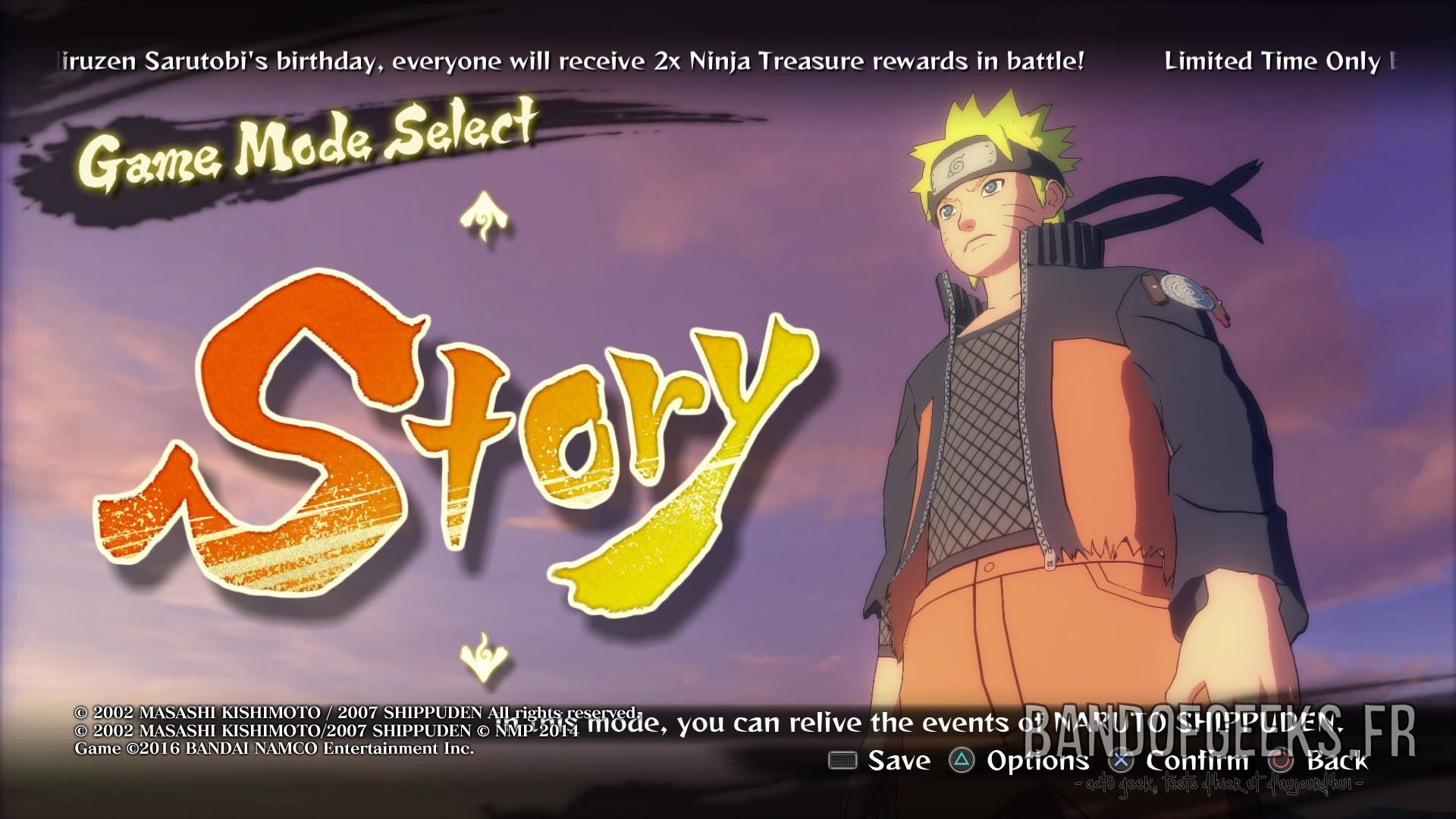 Naruto Shippuden Ultimate Ninja Storm 4 Le Storm Bcl