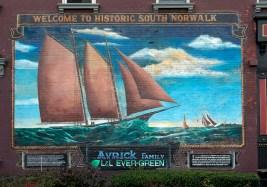 Norwalk harbor mural (20087v)