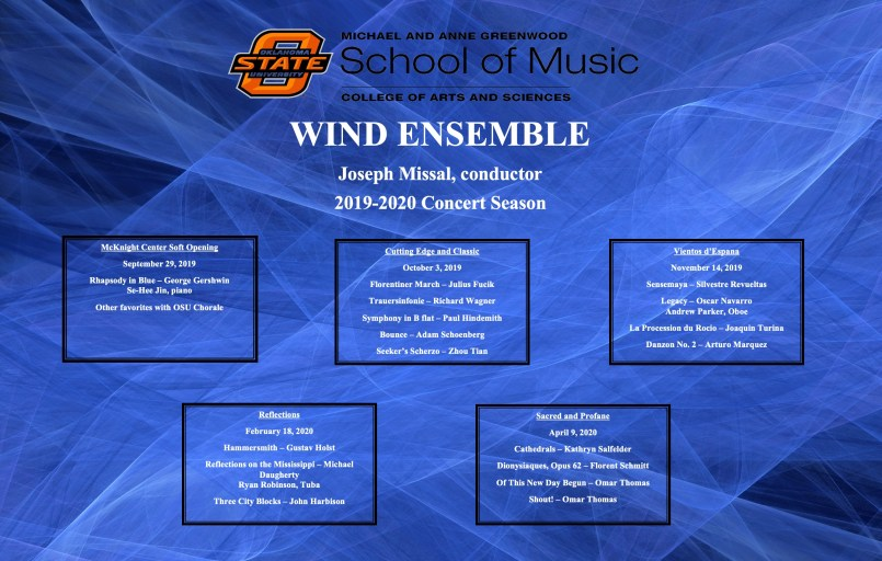 Wind Ensemble Repertoire 2019-2020