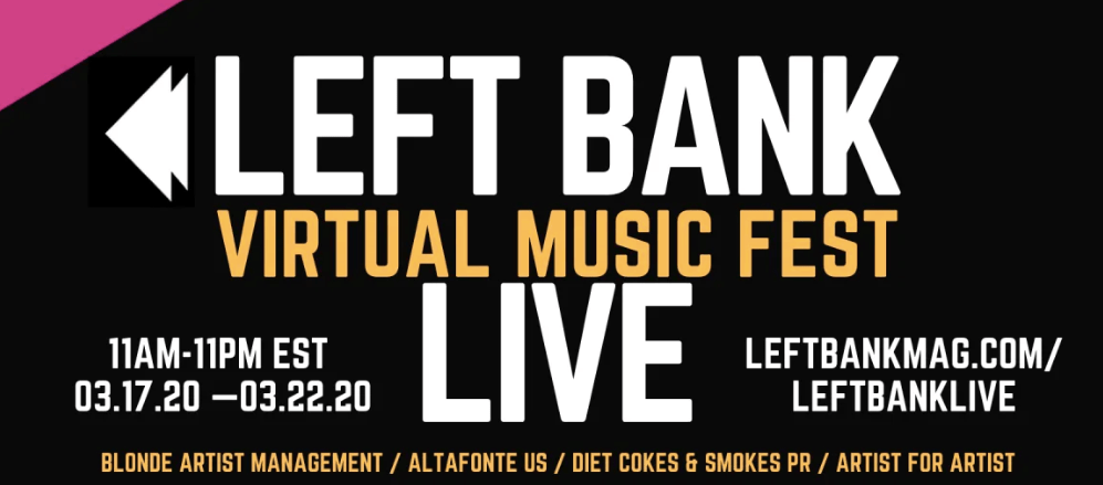 Left Bank Live, Virtual Music Festival, Bands do BK, Bands do Brooklyn