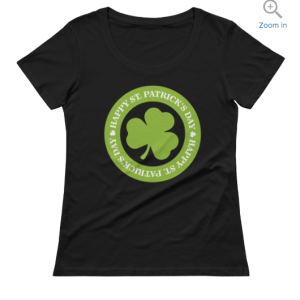 Happy St. Patrick's Day Ladies' Scoop-neck T-Shirt