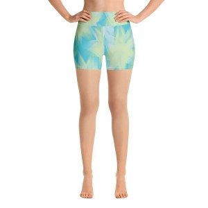 Spring Flower Yoga Shorts