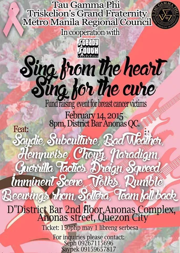 Sing for the heart Sing for the cure Feb.14 District 2140