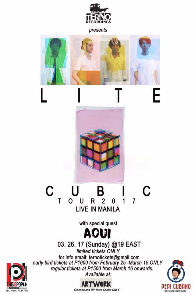 LITE : CUBIC Tour 2017 Live in Manila : AOUI