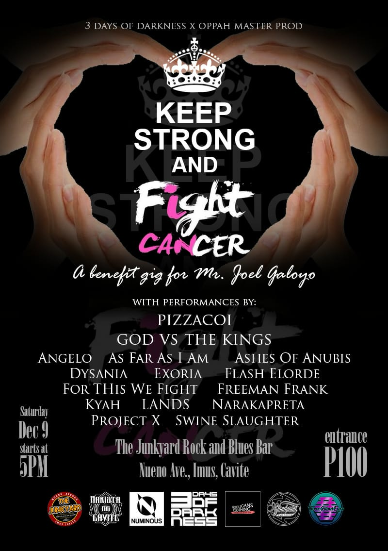 """KEEP STRONG AND FIGHT CANCER"" Benefit Gig"