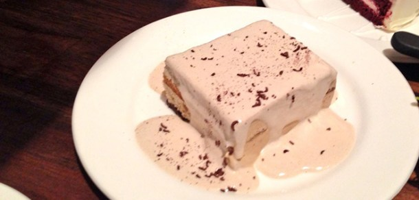 Tiramisu at California Pizza Kitchen