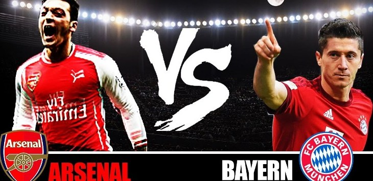 Arsenal vs Bayern Munchen (youtube)