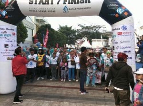 Area start fun walk HUT ke-14 Radar Bandung