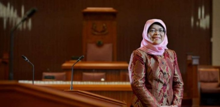 Halimah Yacob. Foto: the strait times