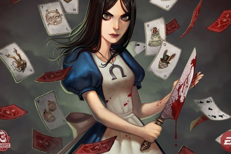 Alice Madness Return Alicja z nożem i kartami