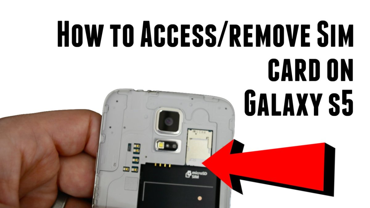 How to access and remove Galaxy S5 SIM card