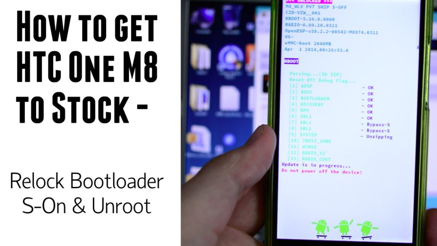 How to return HTC One M8 (Verizon) to stock - S-On - Relock