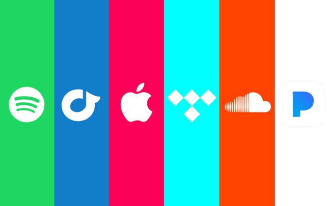 Image of different music streaming services