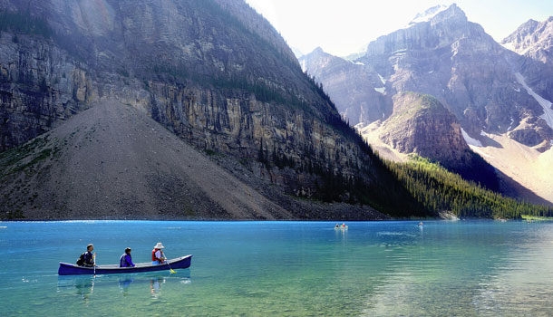 Moraine Lake In Banff National Park Banff National Park