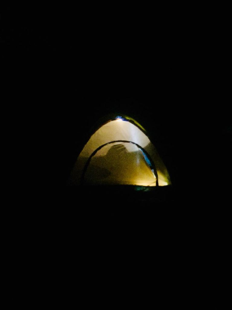 Lighted tent in the night - Bangalore