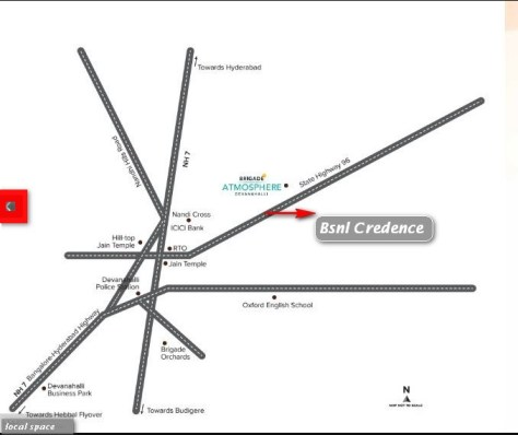 Bsnl credence location