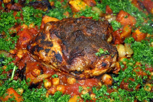 6. Moroccan Spiced Chicken Crown