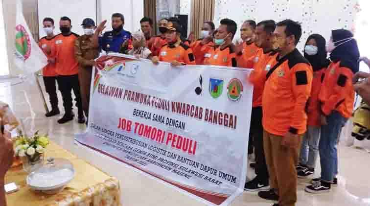 Kerjasama dengan JOB Tomori, Relawan 'Pramuka Peduli' untuk Sulbar Dilepas Wabup Mustar