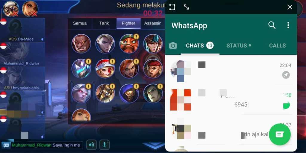 Balas Chat Game Turbo Xiaomi