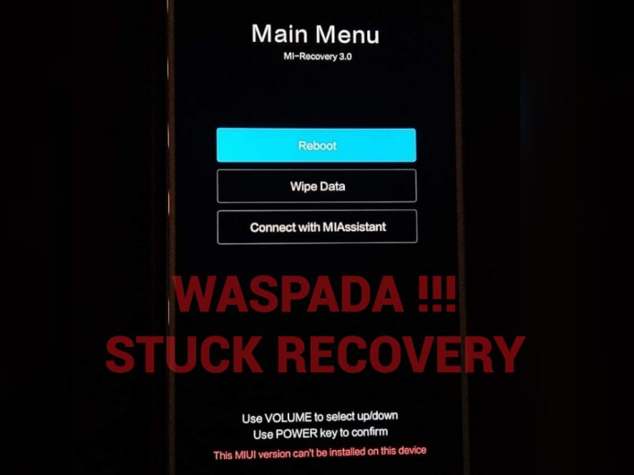 Stuck Recovery Redmi Note 5