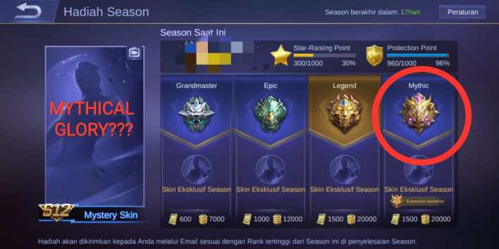 Syarat Mythical Glory Mobile Legends