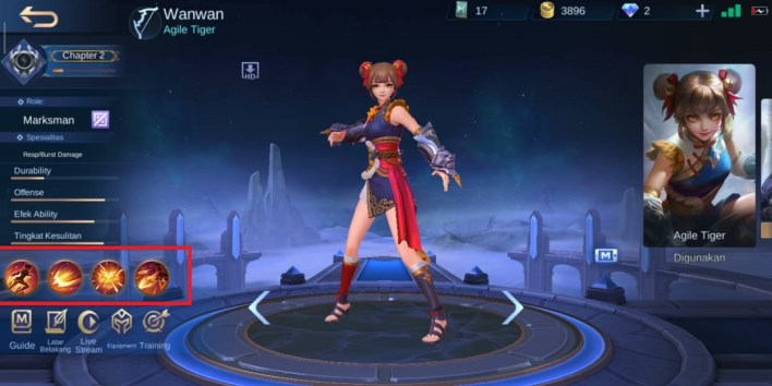 Wanwan Hero Mobile Legends Build