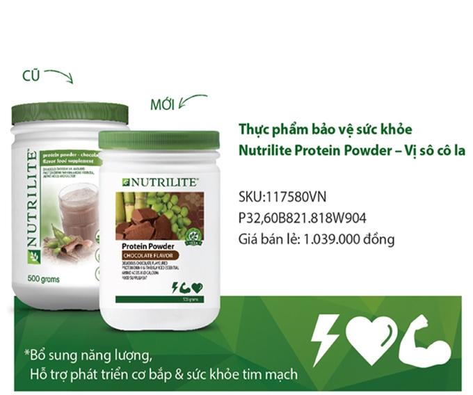 Thực Phẩm Bổ Sung Protein Thực Vật của Nutrilite Amway Mùi Chocola Mẫu Mới