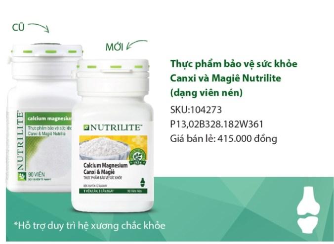 Canxi Amway Nutrilite Calcium Magnesium Canxi & Magiê Mẫu Mới