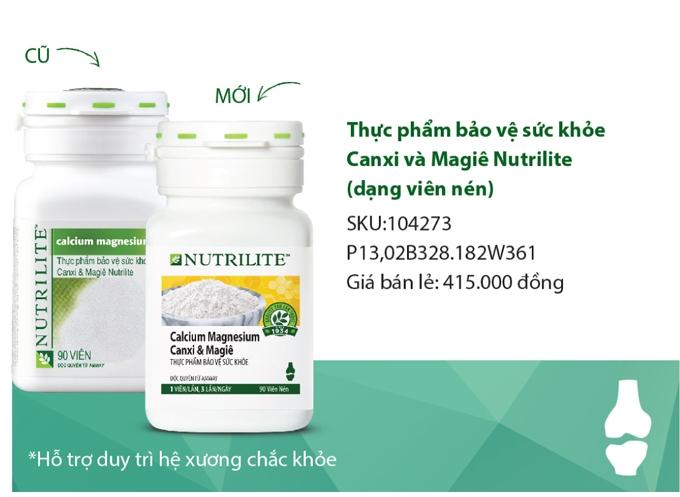 Bán Canxi Amway Nutrilite Calcium Magnesium Canxi & Magiê Mẫu Mới