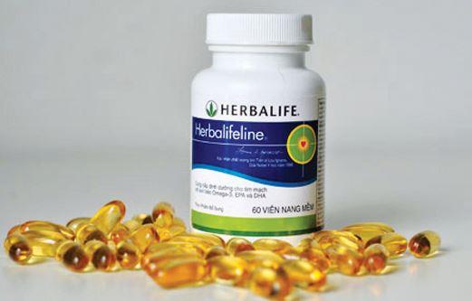 viên dầu cá Herbalifeline giá bao nhiêu tiền