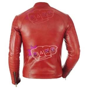 Buy Get Mens Cafe Racer Lambskin Slim Fit Genuine Leather Biker Jacket Online