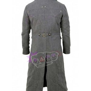 Bloodborne Game The Hunter Grey Wool Trench Coat