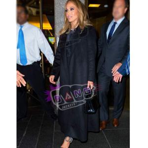 Get Jennifer Lopez Womens Black Wool Winter Coat