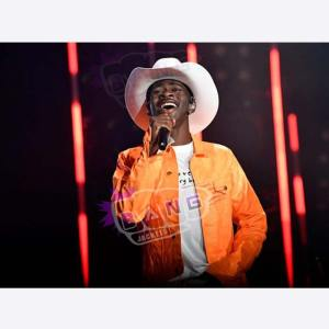 Purchase Lil Nas X Old Town Road Vintage Orange Leather Jacket