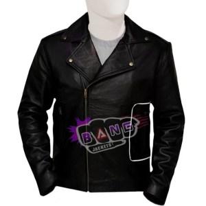 Get Mens Black Leather Adult Grease T Birds Moto Biker Jacket