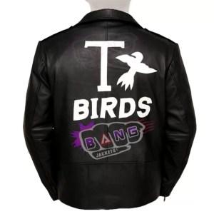 Buy Mens Black Leather Adult Grease T Birds Moto Biker Jacket