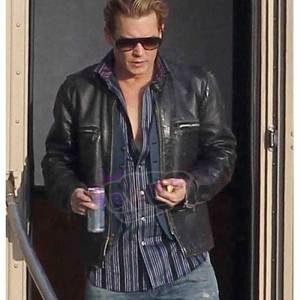 Collect Charles Mortdecai Johnny Depp Mens Black Real Cowhide Leather Jacket