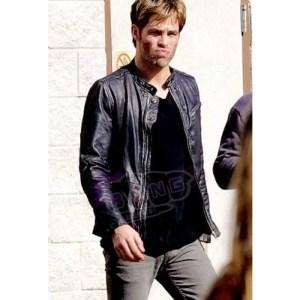 Buy Chris Pine Horrible Bosses 2 Rex Hanson Mens Real Leather Cafe Racer Jacket