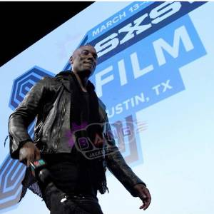 Purchase Fast And Furious Tyrese Gibson Mens Black Real Leather Slim Fit Jacket
