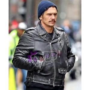 Get The Deuce James Franco Motorcycle Distressed Genuine Leather Jacket
