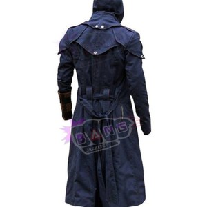 Buy Arno Victor Dorian Assassins Creed Unity Hooded Black Lapel Leather Trench Coat
