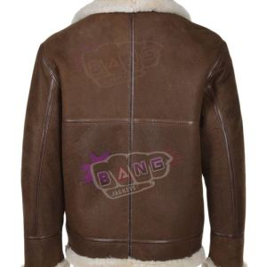 Buy Mens Brown Gliding Shearling Bomber Leather Jacket