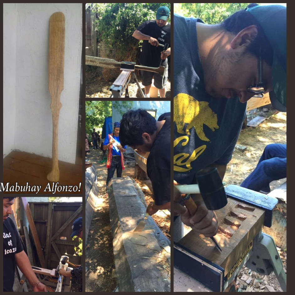 Alonzo learns carving skills, reconnects with his ancestral wood carvers and builders via Balik sa Dagat Bangka Journey Camp 2016 with Master Carver Mamerto Lagitan Tindongan and the BSDBJ Krew.