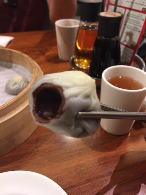 Chocolate xiaolongbao at Din Tai Fung