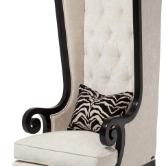 High Backed Throne Chair Round Microfiber Swivel Back Bangkokfoodietour