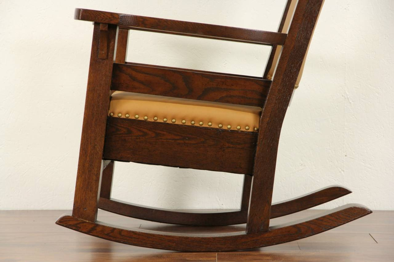 Mission Style Rocking Chair  bangkokfoodietourcom