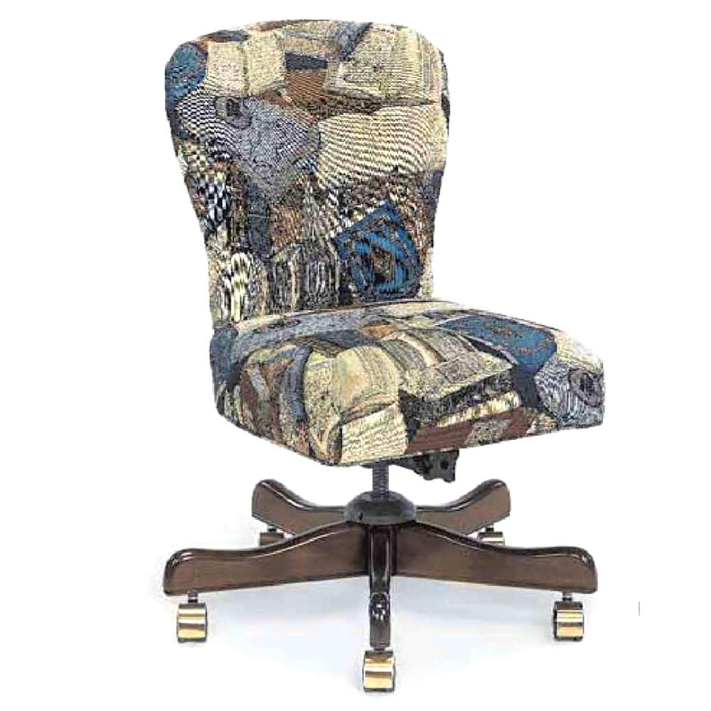 Upholstered Desk Chair With Wheels  bangkokfoodietourcom