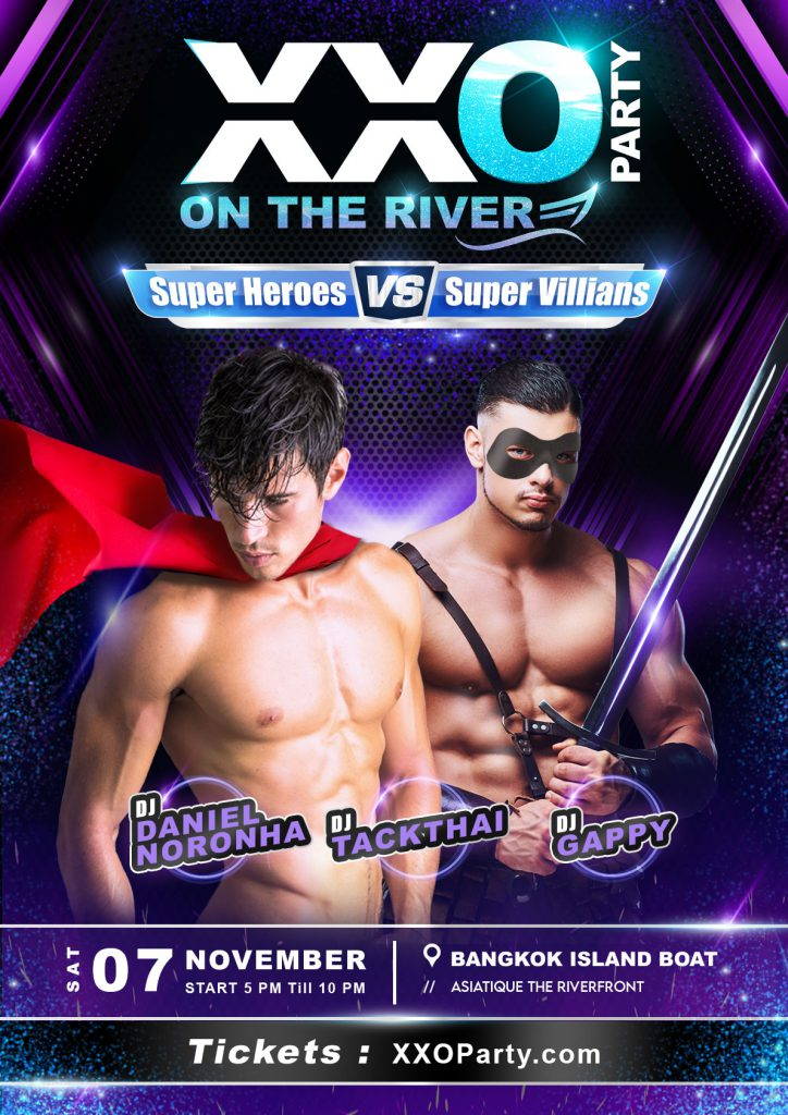 XXO Party On The River: SuperHeros VS SuperVillains