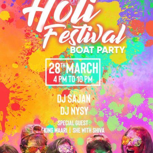 Holi Festival Boat Party